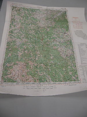 Original WW2  1943 YUGOSLAVIA Map  of KURSUMLIJA (Serbia)