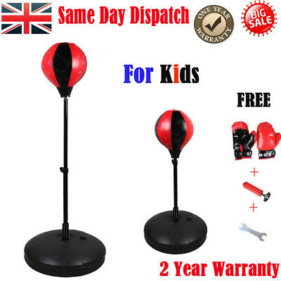Boxing Adjustable Free Standing Punch Ball Adult Punching Speedball Bag MMA kids