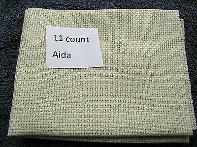 """A piece of Oatmeal 11 count Aida  12"""" by 10"""""""