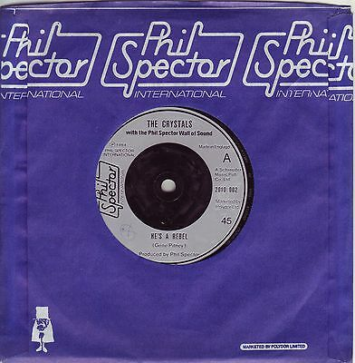 """""""7"""" - THE CRYSTALS - He`s a Rebel - UK-Pressung"""