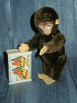 """Vintage Schuco Yes No Monkey 5.12"""" With Metal Face"""