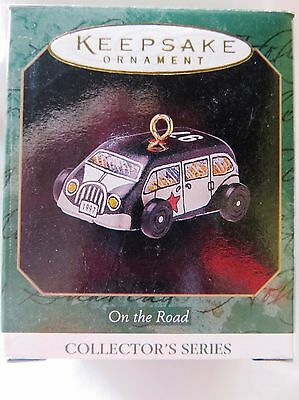 1997 Hallmark Miniature Christmas Ornament ON THE ROAD PATROL CAR #5 IN SERIES