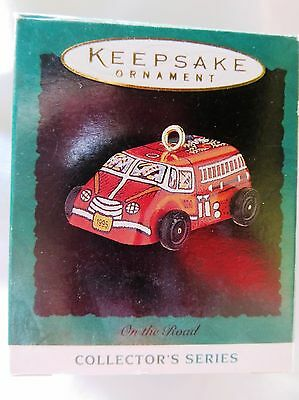 1995 Hallmark Miniature Christmas Ornament ON THE ROAD FIRE TRUCK #3 IN SERIES