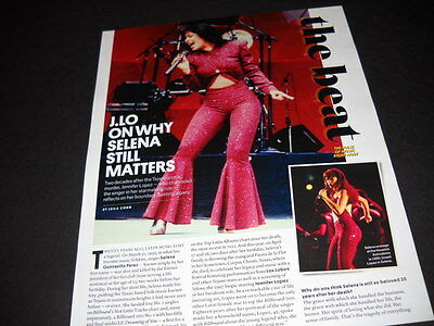 JENNIFER LOPEZ and SELENA why she matter Detailed 2-side 2015 PROMO DISPLAY PAGE