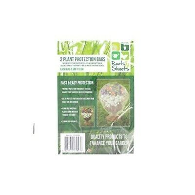 Roots & Shoots 2 Plant Protection Bags - Protective 06m x 08m Weather Resist