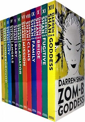 Darren Shan Zom-B Collection 12 Books Set -Goddess,Angels,Clans,Baby,Family New