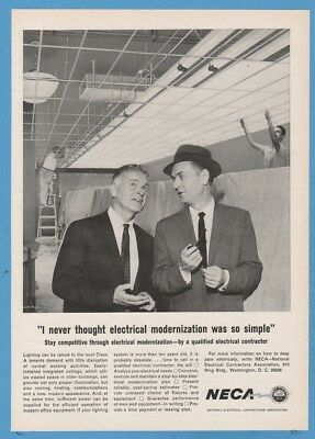 1964 NECA National Electrical Contractors Association magazine print ad