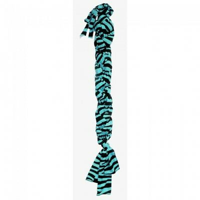 Tough-1 LYCRA Braid-In Tail Bag  - Turquoise Zebra  - NWT -