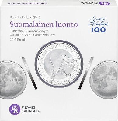 """2017 Finland 20 Euro Silver Proof Coin """"Finnish Nature"""""""