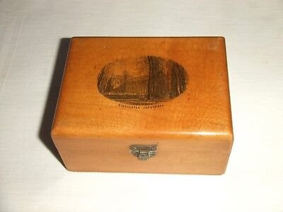 Antique/Vintage Mauchline / Treen / Wooden Box ~ Winchester Cathedral Souvenir