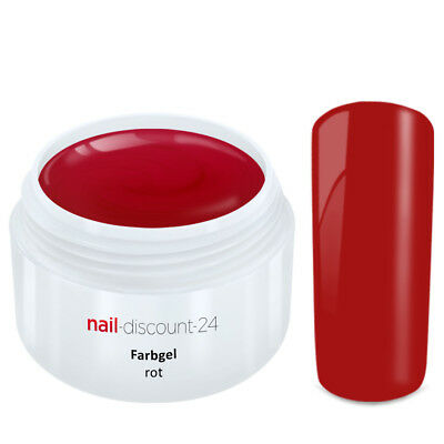 Color UV Gel FARBGEL ROT 5ml Frenchgel Modellage Nail Naildesign Nägel