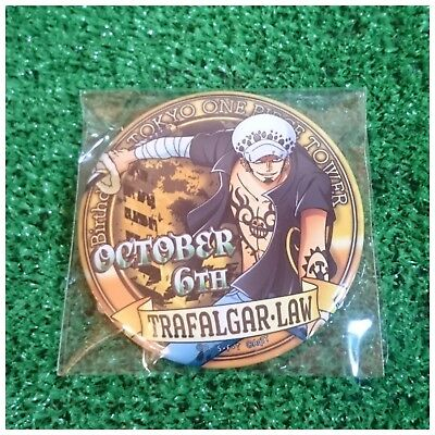 Tokyo One Piece Tower Limited Birthday Can Badge Trafalgar Law -October 6th-