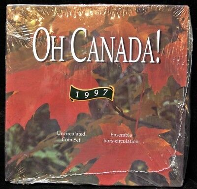 1997 RCM OH CANADA! Uncirculated 7-Coin Set - With FLYING LOON - Sealed