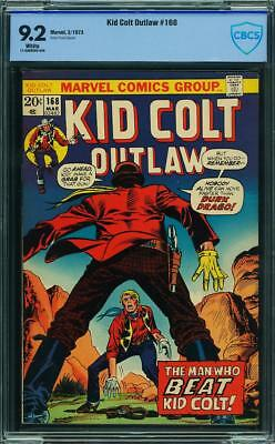 Kid Colt Outlaw 168 Cbcs Like Cgc 9.2 White Pages 1973
