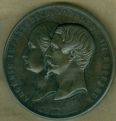 1855 French Medal Issued for Palace of Industry, Paris Exposition, Wiener, Caque