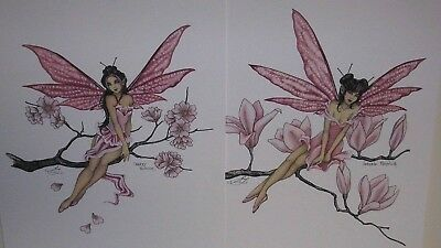 Amy Brown - Japanese Flowers Faeries - Print Set - OUT OF PRINT