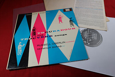 TROUBADOUR AND TROUVERE SONGS - Russell Oberlin LP Lyrichord USA 1957 sehr gut