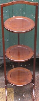 Useful Old Wooden 3 Tier Folding Cake Stand
