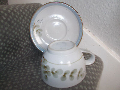 Pre-owned Highland Stoneware Elphin Scotland Large Cup & Saucer Floral Bargain