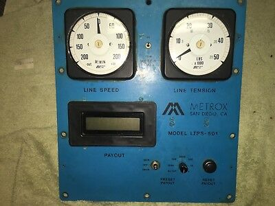 METROX LTPS 501 Control Panel with CROMPTON Gauges 073-05 078-05 Remote Display