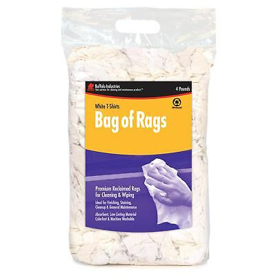 Buffalo Industries 10520PB 4lb Compressed Poly Bag of Rags (Pack of 4)