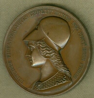1867 German Medal Issued to Commemorate the 25th Anniv. of Artists Association