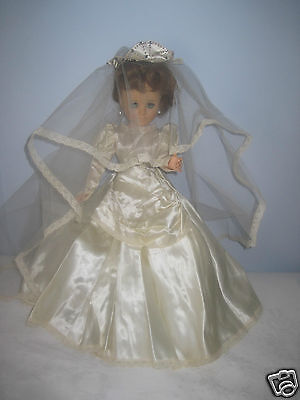 """AMERICAN CHARACTER VERY OLD 20"""" BRIDE DOLL w/20+ OUTFITS/SHOES/PURSES/NYLONS-EUC"""