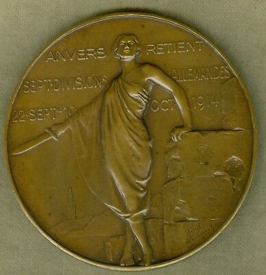 1921 Belgium Medal Issued for the Role Played in World War I, by Paul Wissaert