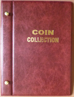 Small VST RED COIN STOCK ALBUM for 2 x 2 COIN HOLDERS - holds 48 Coins