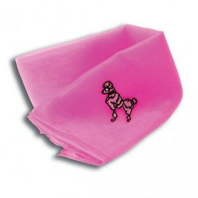 50's Pink Poodle Chiffon Scarf - Fancy Dress 50s 1950s Accessory Ladies Grease