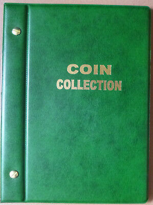 Small VST GREEN COIN STOCK ALBUM for 2 x 2 COIN HOLDERS - holds 48 Coins