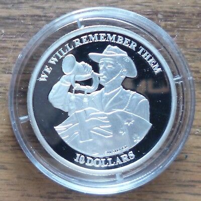 Kiribati 2012 We Will Remember Them $10 Silver Proof Coin