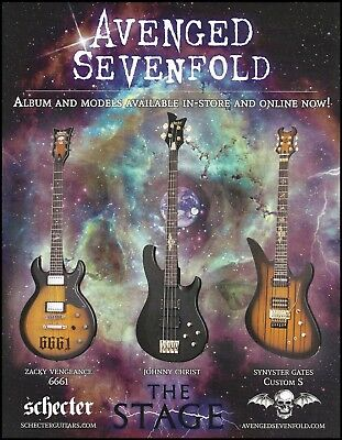 Avenged Sevenfold The Stage 2016 Signature Schecter Guitars 8 x 11 ad print