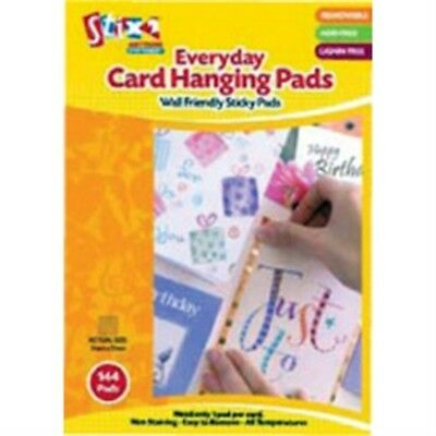 Pack Of 144 Everyday Card Hanging Pads - x 7mm Wall Friendly Acid Free Easy