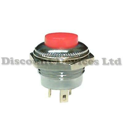 Quality Momentary SPDT Push Button Switch  Red