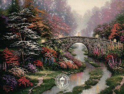 Stillwater Bridge - Painter of Light, Art Card - Thomas Kinkade Dealer Postcard