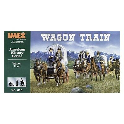 FAR WEST 1/72 - AMERICAN HISTORY CONQUEST OF THE WEST - Wagon Train Diorama Set