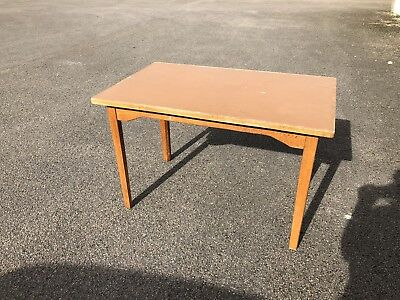 "Vintage oak school lab/art table 48"" X 30"" Teachers Desk"