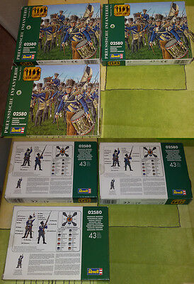 REVELL 1/72 - Napoleonic Wars  PRUSSIAN INFANTRY  - COMPLETE X 1 BOX 2580 sprues