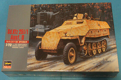 Hasegawa 1:72 - GERMAN ARMY ARMORED  PERSONNEL CARRIER SdKfz - VINTAGE BOX RARE