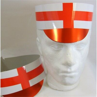 Hat Card Flag With Peak England 25's - Union Jack Slotted Pack 25 25s World Cup