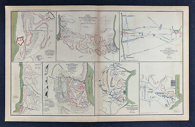Civil War Map - Siege Fort Henry & Donelson Tennessee Cumberland River Battle