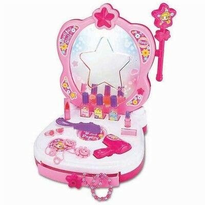 Glamour Mirror Dressing Table With Magic Mirror,light & Sound - Girl Kids