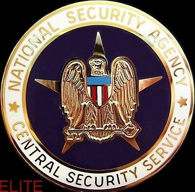 Genuine U.s. National Security Agency Cia Service Breast Badge Medal
