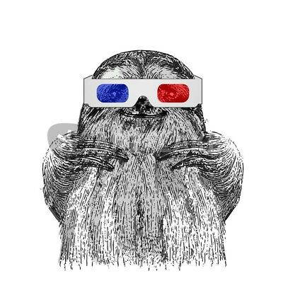 3d Sloth Poster