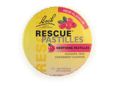 3 x 50g MARTIN & PLEASANCE Rescue Pastilles Cranberry 150g Soothing