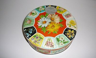 Carr's Biscuits England Wild Flowers Pretty Tin Collectable dvertising