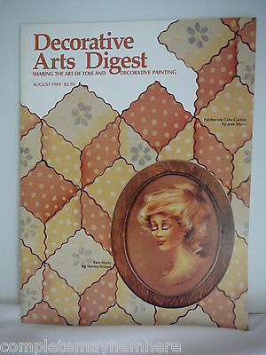 Decorative Arts Digestive August 1989 - Painting, tole, Face study, projects