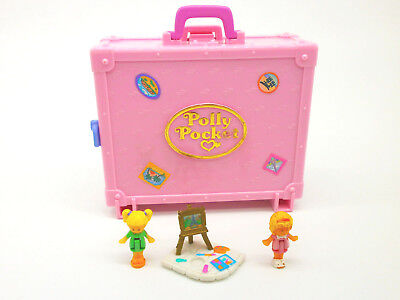 Polly Pocket Mini ★ Polly in Paris Koffer 1996 ★ mit 2 Pollys