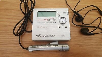 Original Sony MZ-R909 Silver Recordable MiniDisc Walkman Immaculate *Untested*
